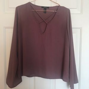 Forever21 - Blouse in plum (Size small)